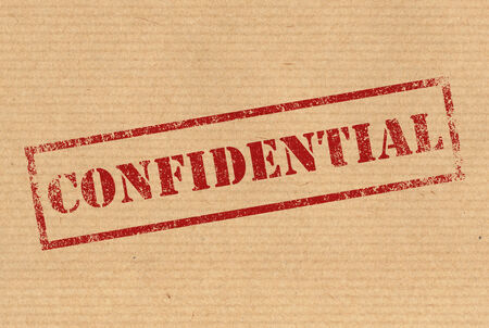 Confidential rubber ink stamp photo