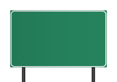 blank road sign: Green American traffic sign Illustration