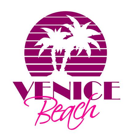 palm tree sunset: Venice Beach