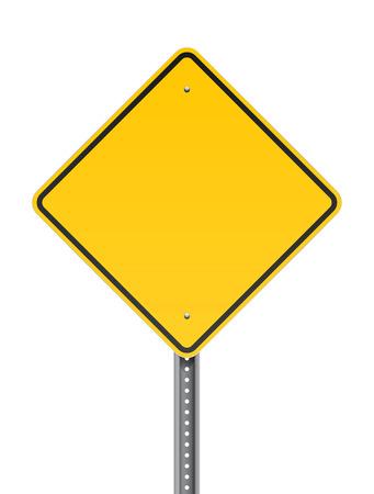 route: Avertissement Blank panneau routier Illustration