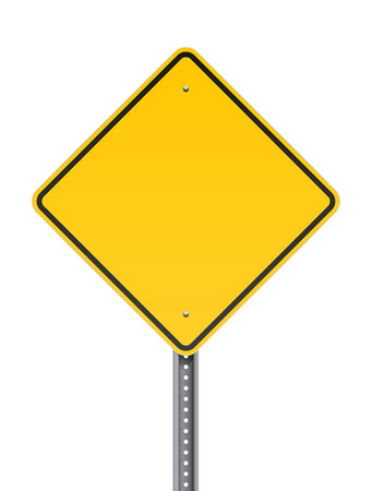 En blanco carretera signo de alerta Foto de archivo - 26038560