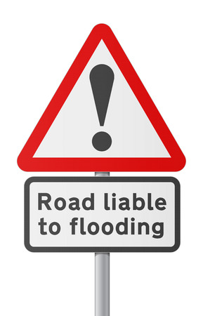 FLOODING: English road sing - Road liable to Flooding