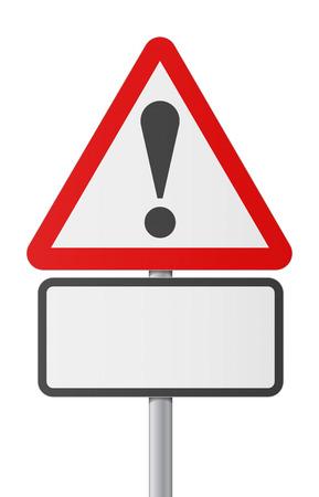 English road sing - Blank danger Stock Vector - 26032873
