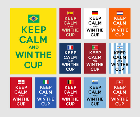 Keep calm and win the cup Vector