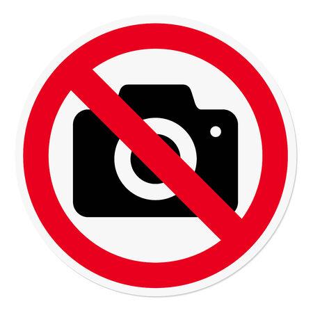 interdiction: Photographie interdite Illustration