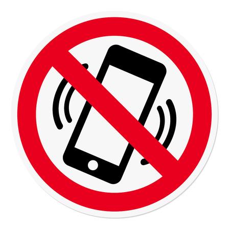 interdiction: Téléphone mobile interdit