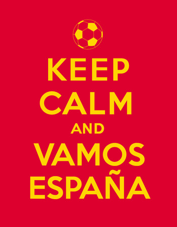 iniesta: Keep calm and Vamos Espana Illustration