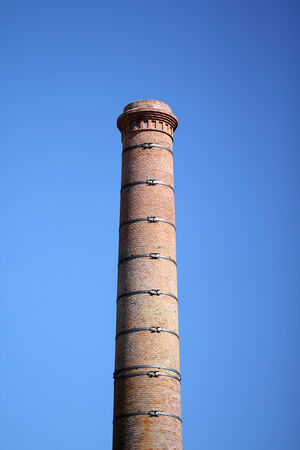 patrimony: Old factory stack in Nantes  France  Stock Photo