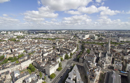 Aerial view of Nantes  France Stock Photo - 28428179