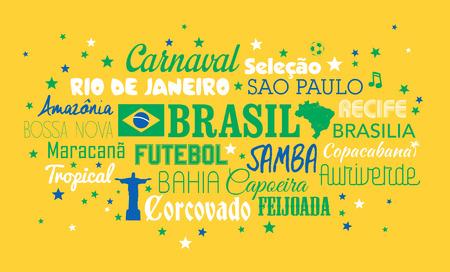 corcovado: Brazil words Illustration