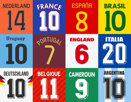 Números de camisa de futebol Banco de Imagens - 29418126