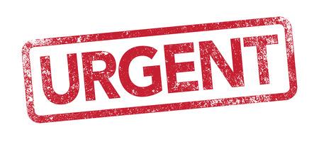 Urgent red stamp