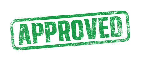 Approved green ink stamp Illustration