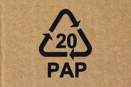 pap: Recycling code 20 PAP Stock Photo