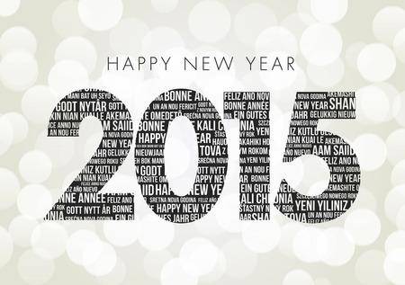 nieuwjaar: Gelukkig Nieuwjaar 2015 Stock Illustratie