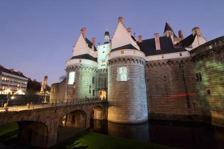ブルターニュ (フランス ナント) の公爵の城 報道画像