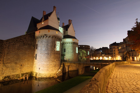 frontage: Castle of the Dukes of Brittany (Nantes - France) Editorial