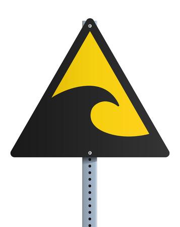 Sign tsunami Illustration