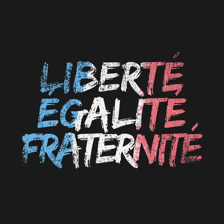 fraternity: Liberty Equality Fraternity Illustration