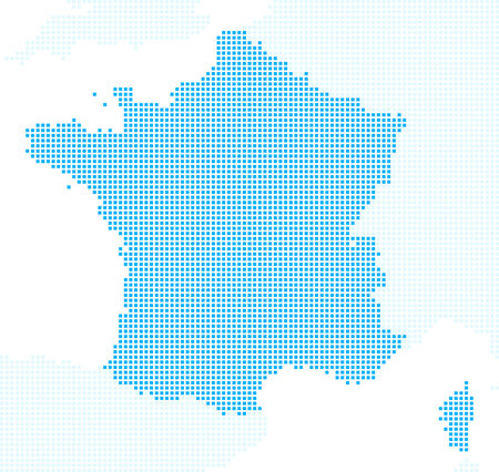 pixels: France map pixels Illustration