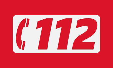 evropský: Evropské číslo tísňového volání 112 Ilustrace