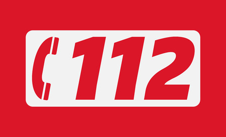 The European emergency number 112 Stock Illustratie