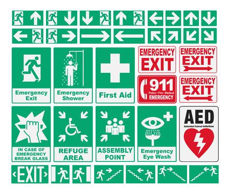 緊急避難を歌う  イラスト・ベクター素材