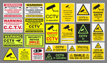warning triangle: CCTV Signs