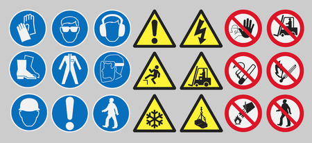 work safety: Work safety signs