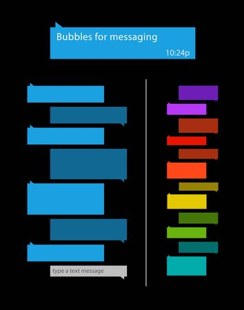 Bubbles for messaging Vector