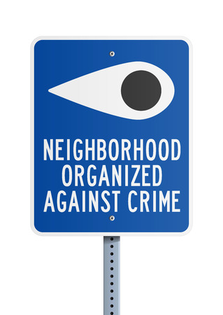 against: Neighborhood Against Crime Illustration