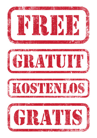 Free stamps Stock Illustratie