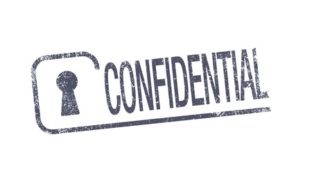 confidentiality: Confidential ink pad Illustration