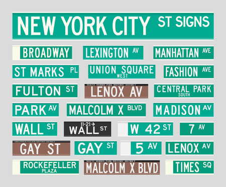 new york city times square: New York Street Signs