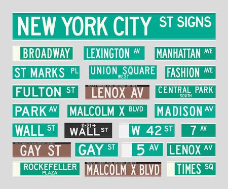 central park: Nueva York Street Signs