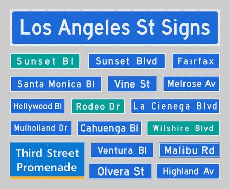 los angeles: Los Angeles Street Signs
