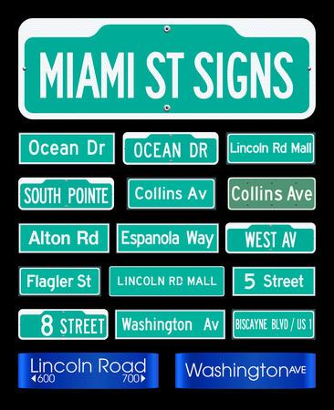 miami south beach: Miami Street Signs