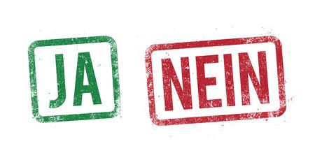pas d accord: Oui et non timbre en allemand