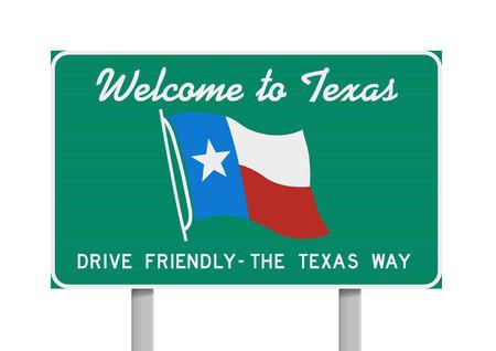 bienvenida: Bienvenido a Texas señal de tráfico