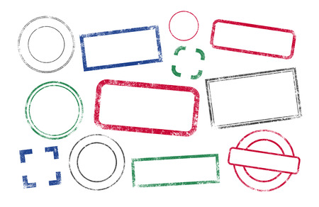 vektor: Briefmarken Rahmen Illustration