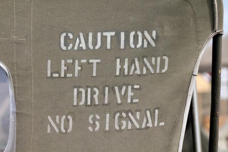 no signal: Caution Left Hand Drive No Signal