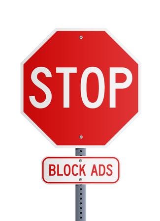 Stop - Block Ads Illustration