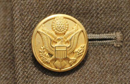 unum: American military button Stock Photo