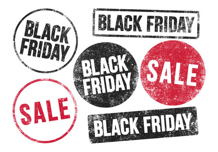 black and red: Black Friday stamps
