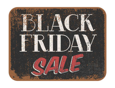 commercial sign: Black Friday Sale vintage sign