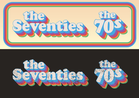 The Seventies 1 Stock Illustratie