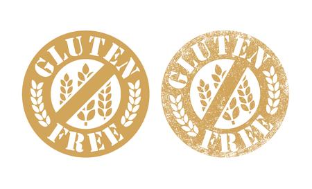 tiredness: Gluten Free stamp Illustration