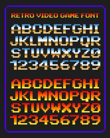Retro video game font Vettoriali