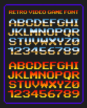Retro video game font Illustration