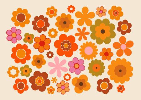Vintage Kwiaty Ilustracje wektorowe